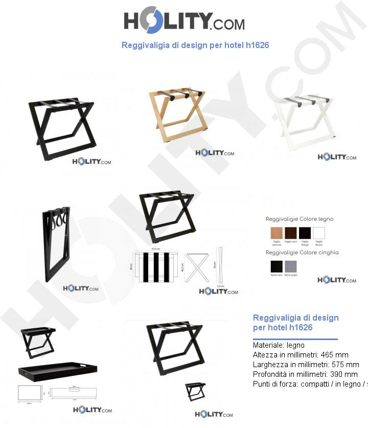 Reggivaligia di design per hotel h1626
