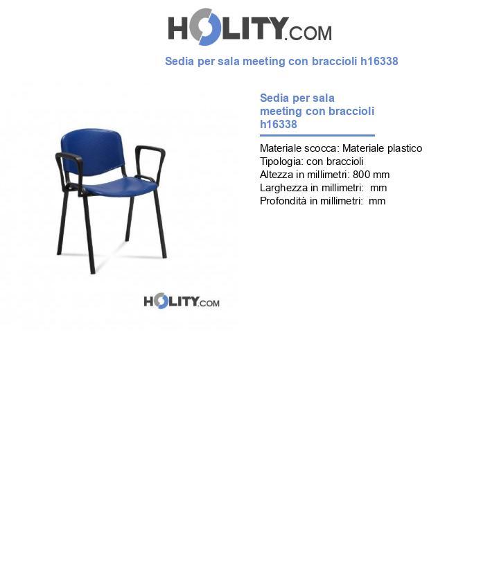 Sedia per sala meeting con braccioli h16338