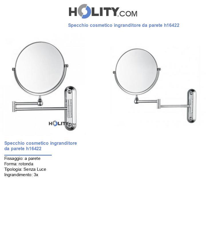 Specchio cosmetico ingranditore da parete h16422