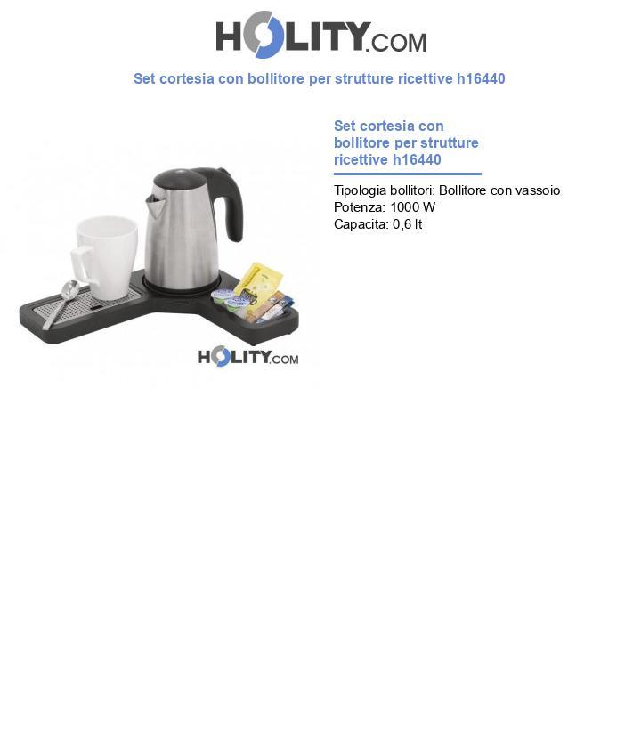 Set cortesia con bollitore per strutture ricettive h16440