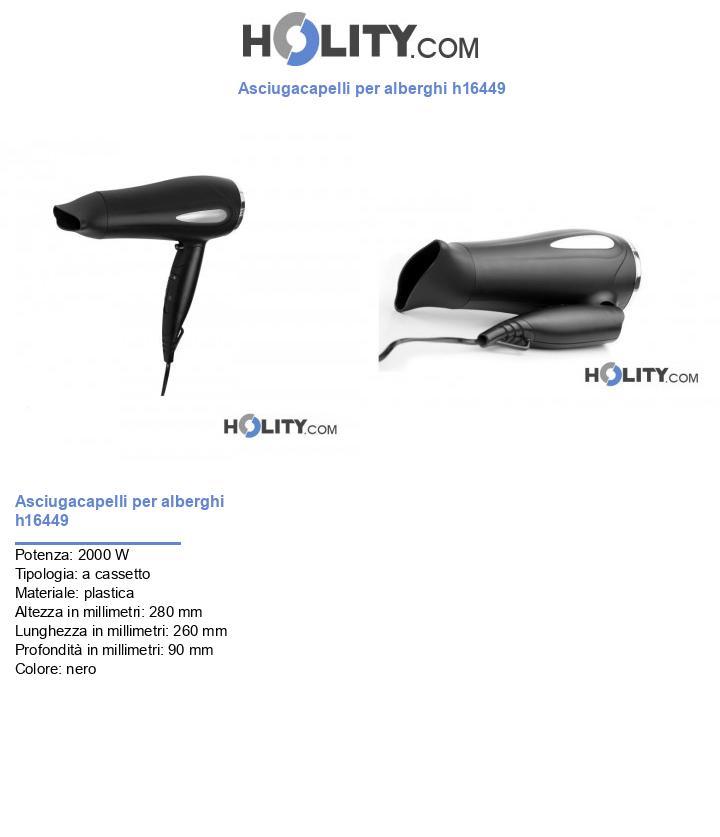 Asciugacapelli per alberghi h16449