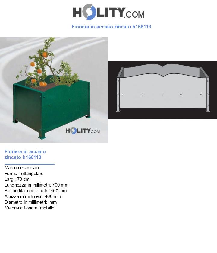 Fioriera in acciaio zincato h168113