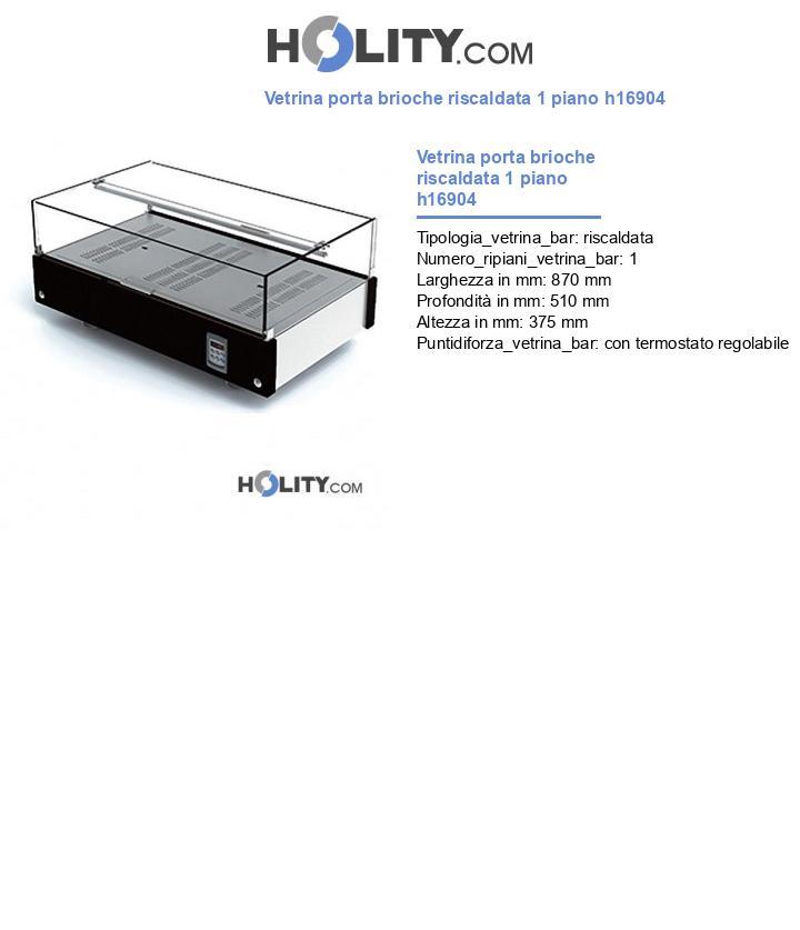 Vetrina porta brioche riscaldata 1 piano h16904