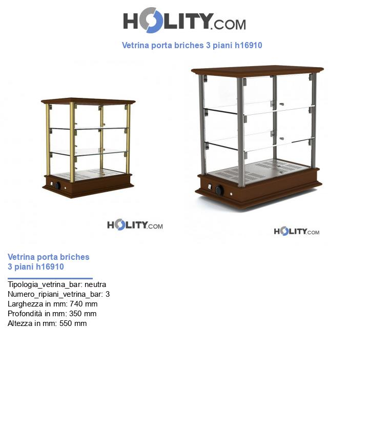 Vetrina porta briches 3 piani h16910