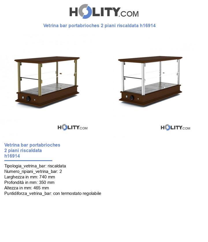 Vetrina bar portabrioches 2 piani riscaldata h16914