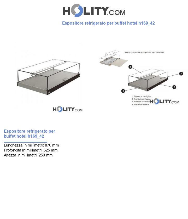 Espositore refrigerato per buffet hotel h169_42