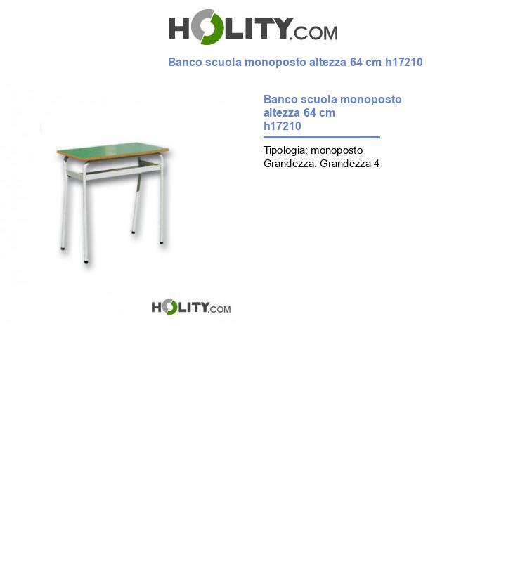 Banco scuola monoposto h17210