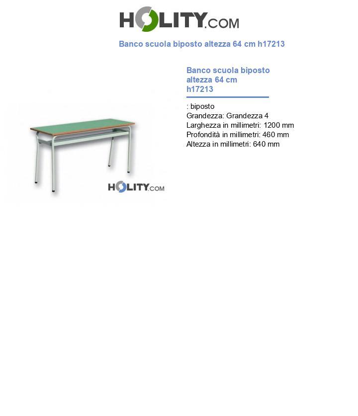 Banco scuola biposto h17213