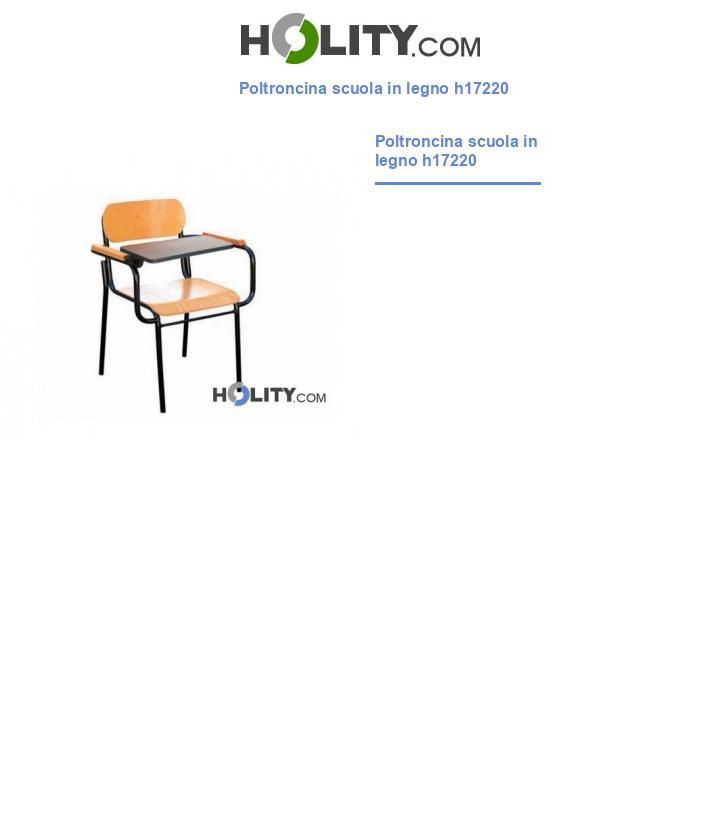 Poltroncina scuola in legno h17220
