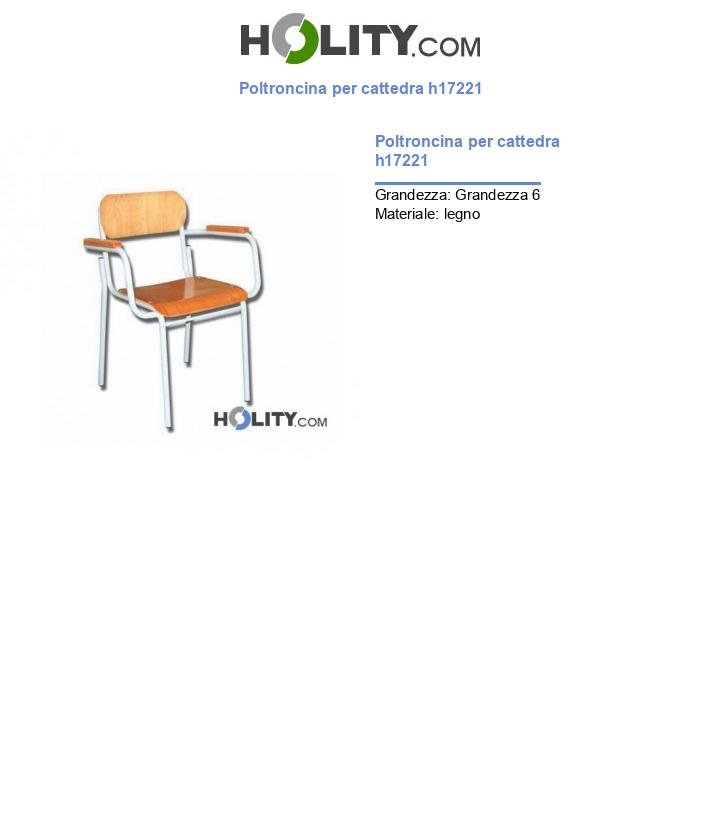Poltroncina per cattedra h17221