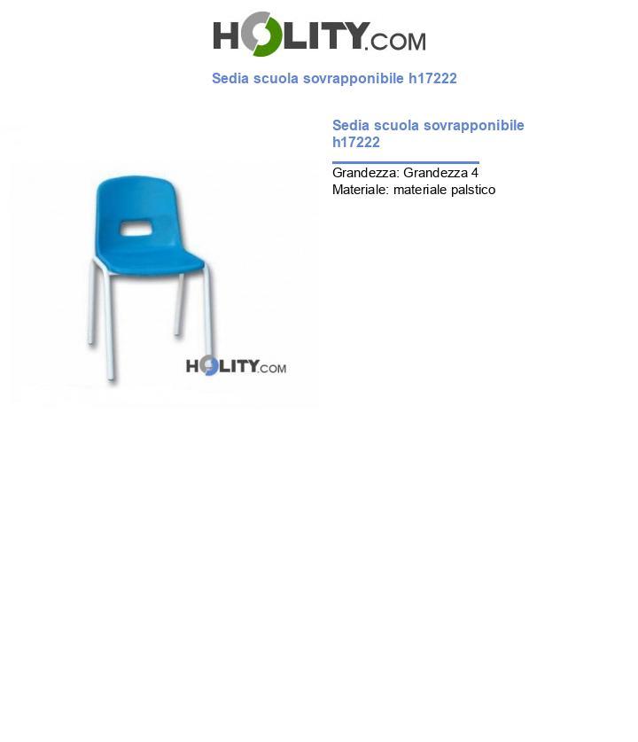 Sedia scuola sovrapponibile h17222