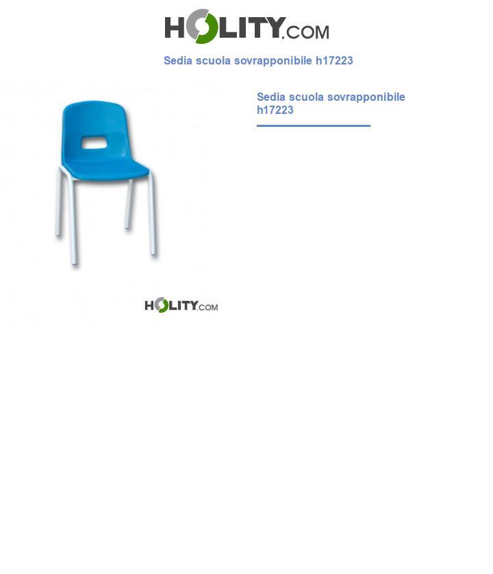 Sedia scuola sovrapponibile h17223