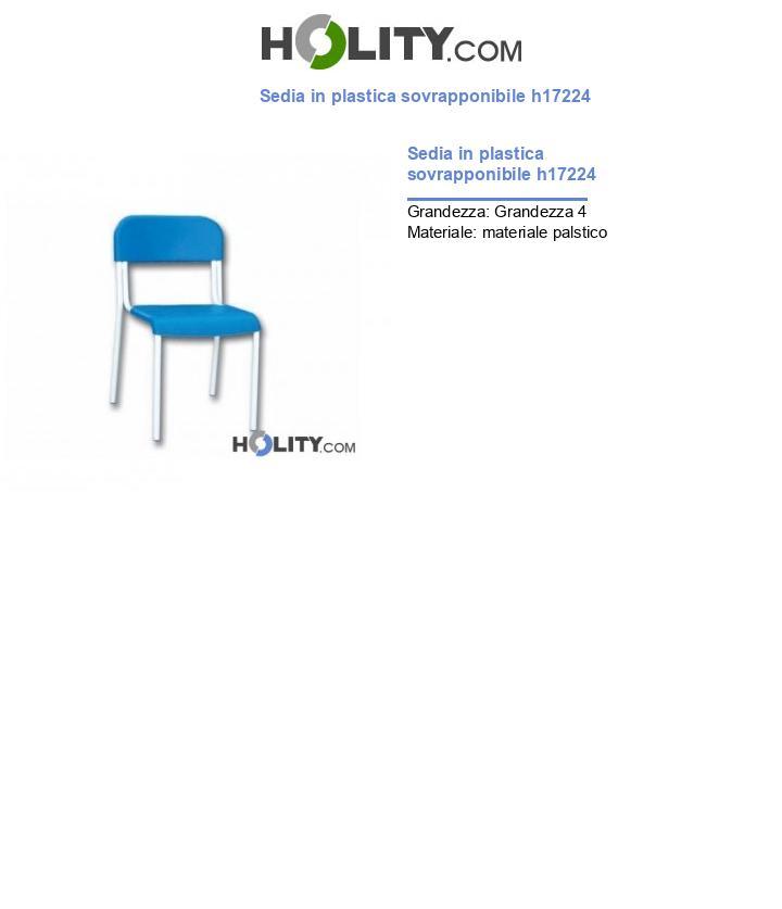 Sedia in plastica sovrapponibile h17224