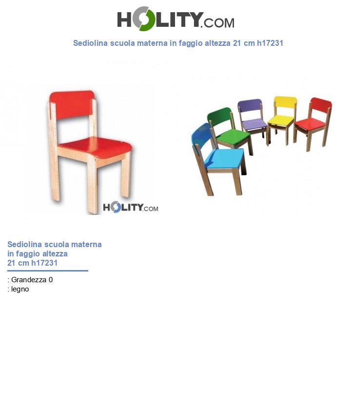 Sediolina scuola materna in faggio h17231