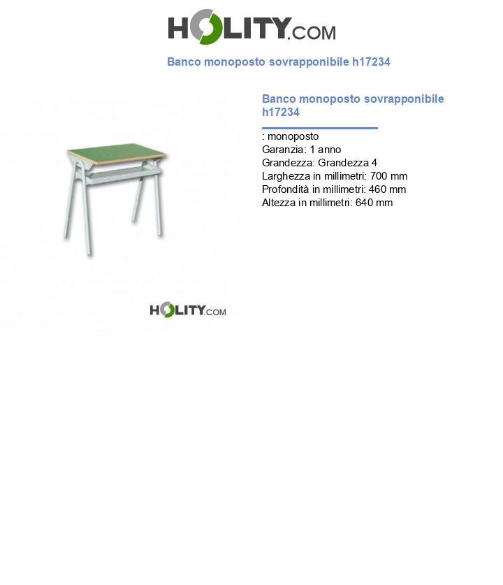 Banco monoposto sovrapponibile h17234