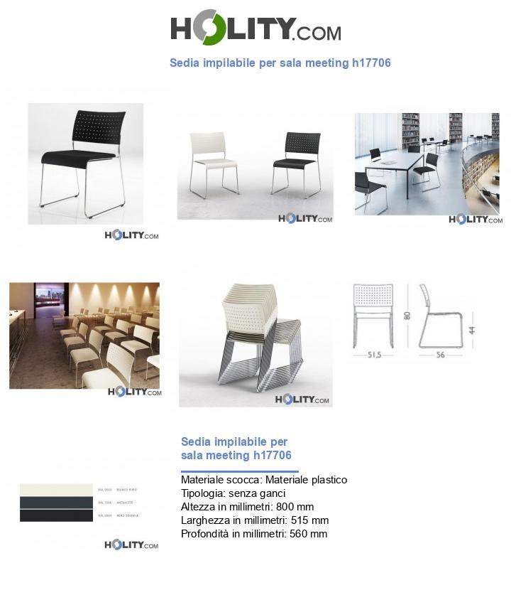 Sedia impilabile per sala meeting h17706