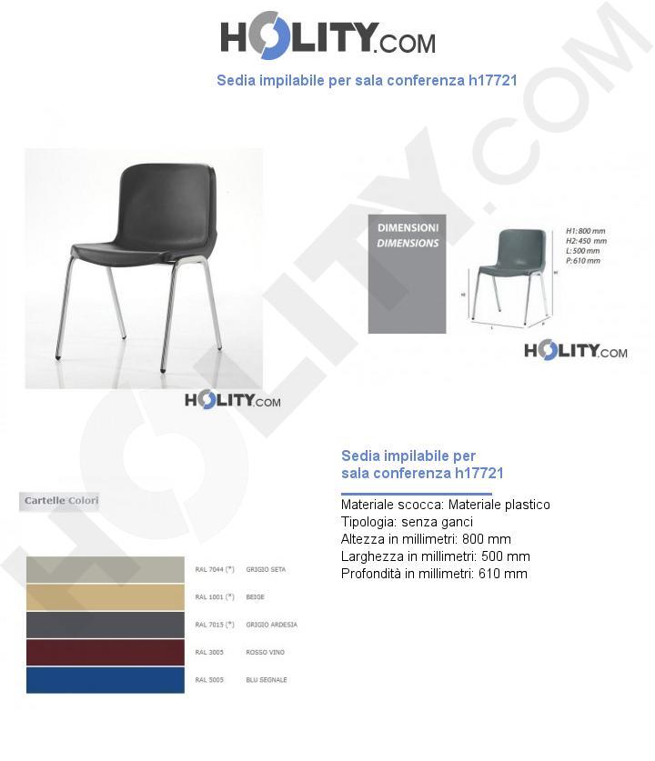 Sedia impilabile per sala conferenza h17721