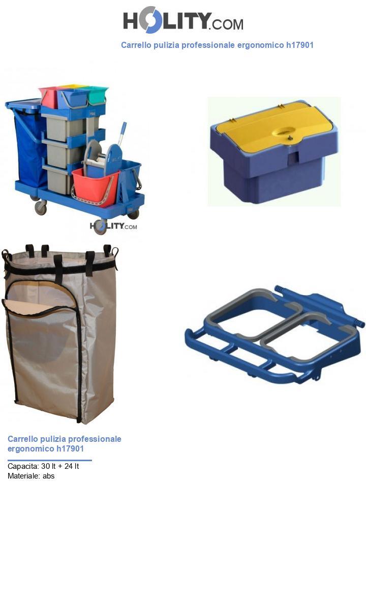 Carrello pulizia professionale ergonomico h17901