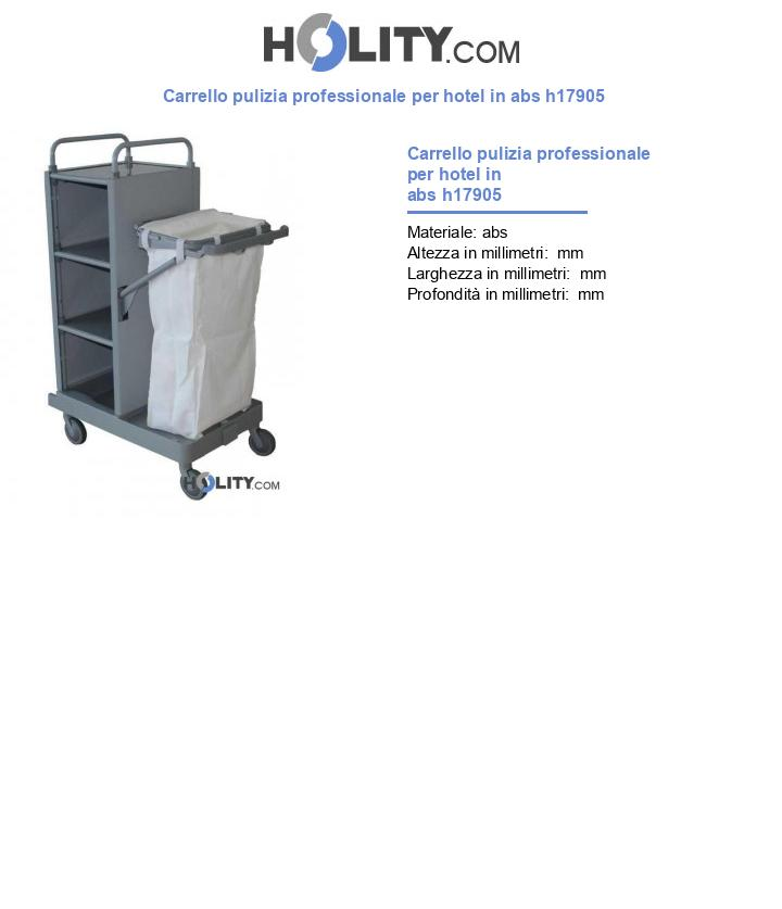 Carrello pulizia professionale per hotel in abs h17905