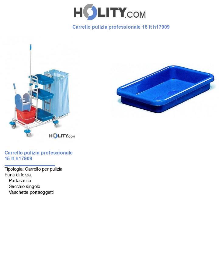 Carrello pulizia professionale 15 lt h17909