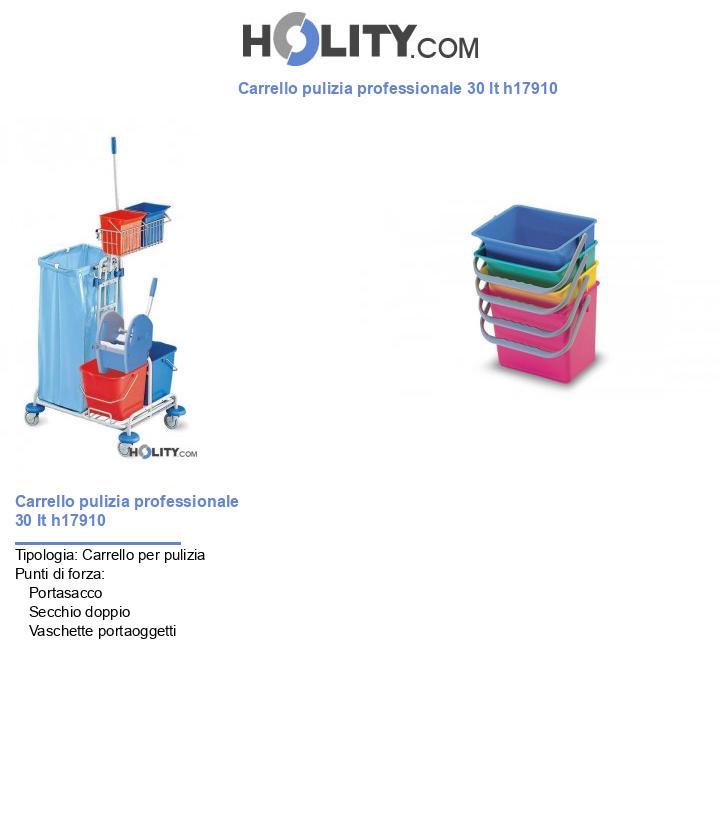 Carrello pulizia professionale 30 lt h17910