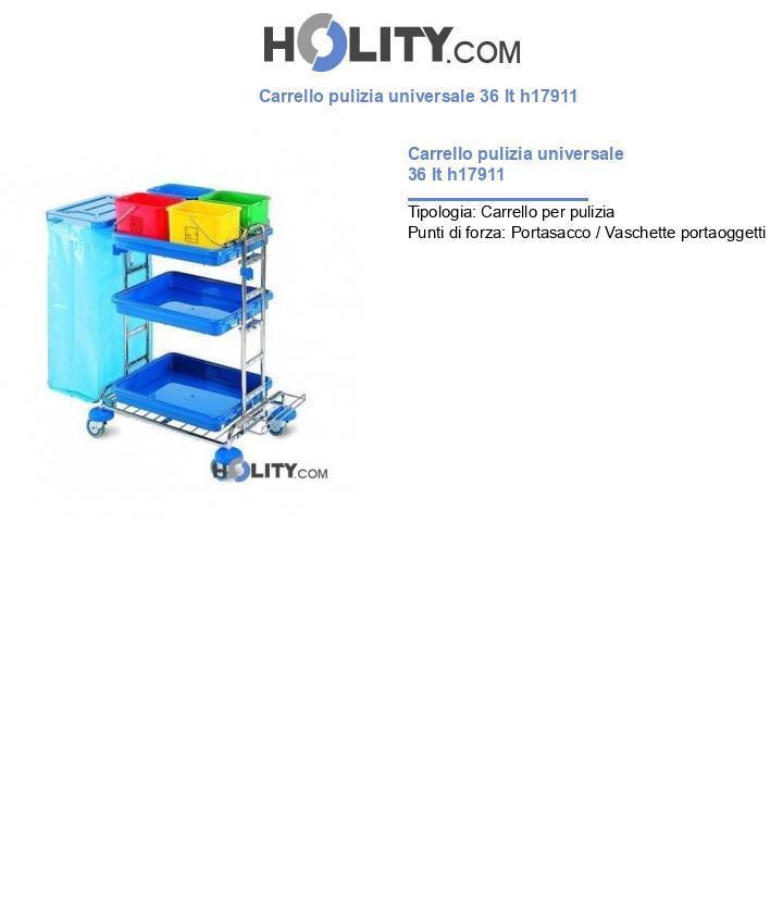Carrello pulizia universale 36 lt h17911