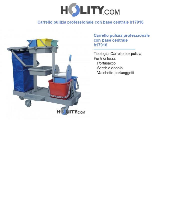 Carrello pulizia professionale con base centrale h17916