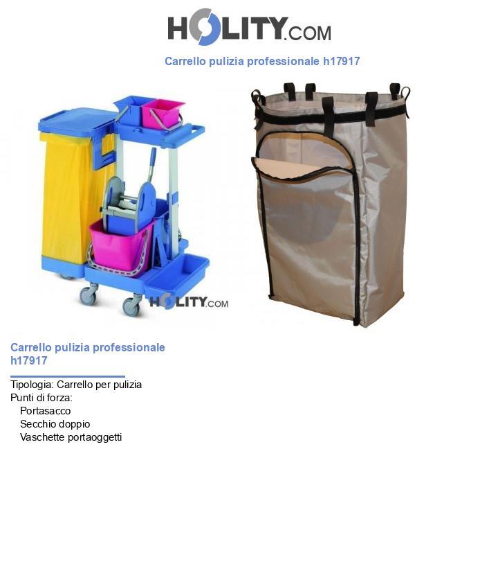 Carrello pulizia professionale h17917
