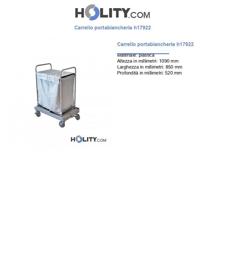 Carrello portabiancheria h17922