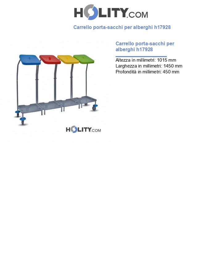 Carrello porta-sacchi per alberghi h17928