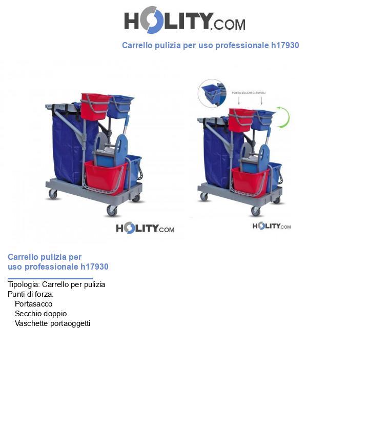 Carrello pulizia per uso professionale h17930