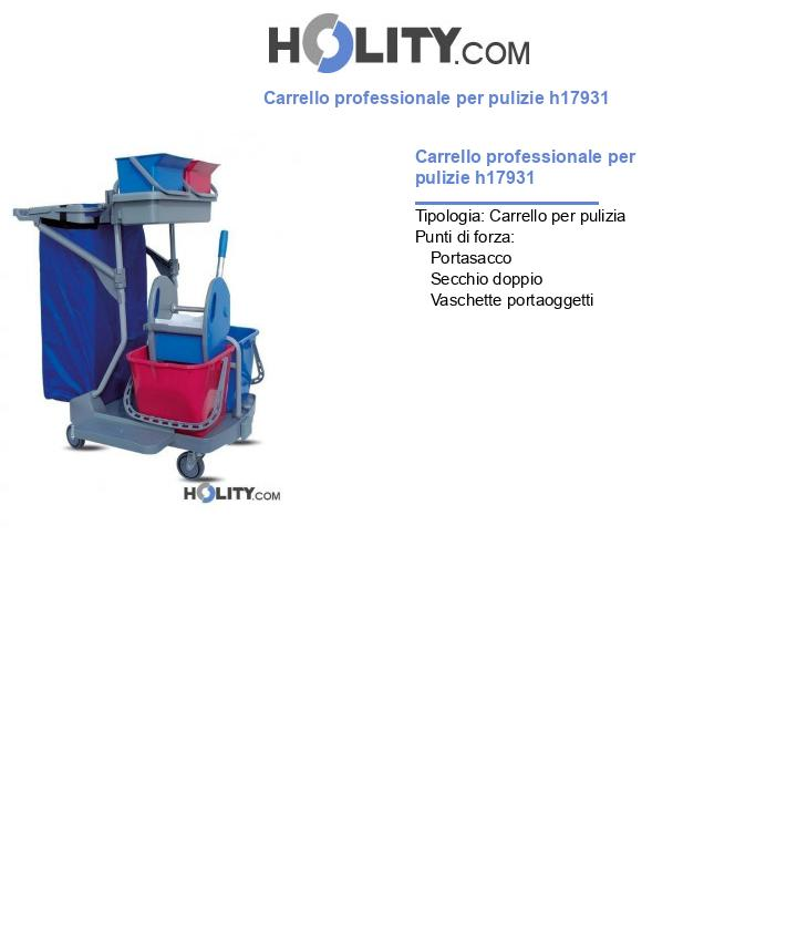 Carrello professionale per pulizie h17931