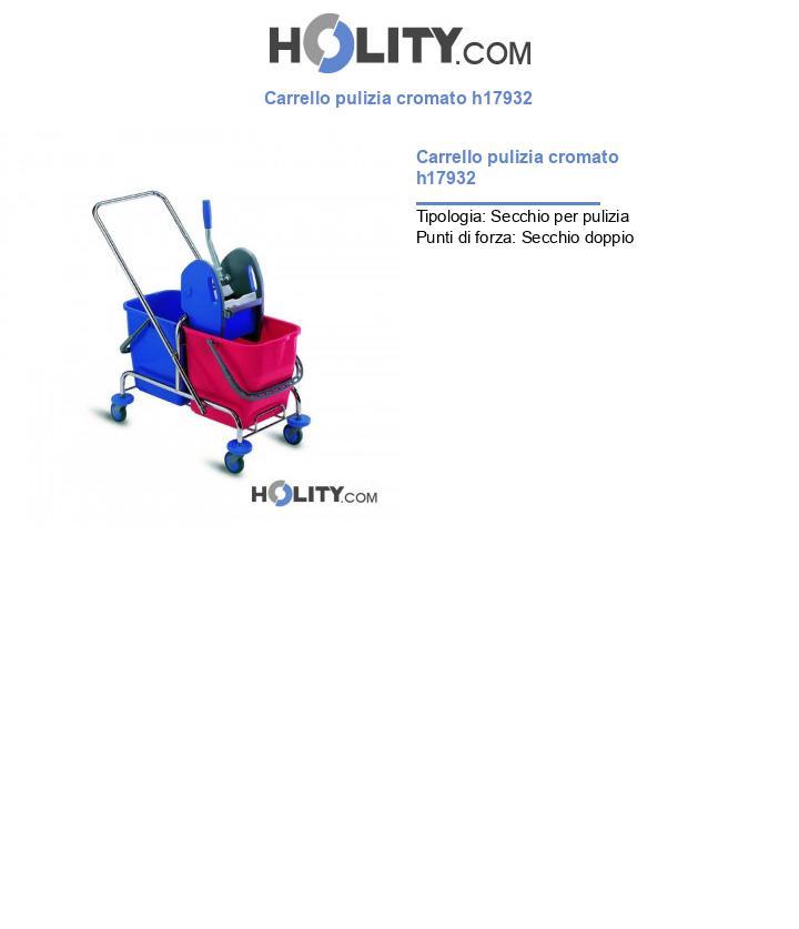 Carrello pulizia cromato h17932