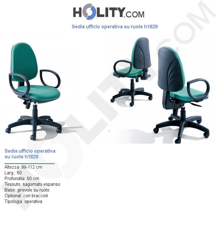 Sedia ufficio operativa su ruote h1829