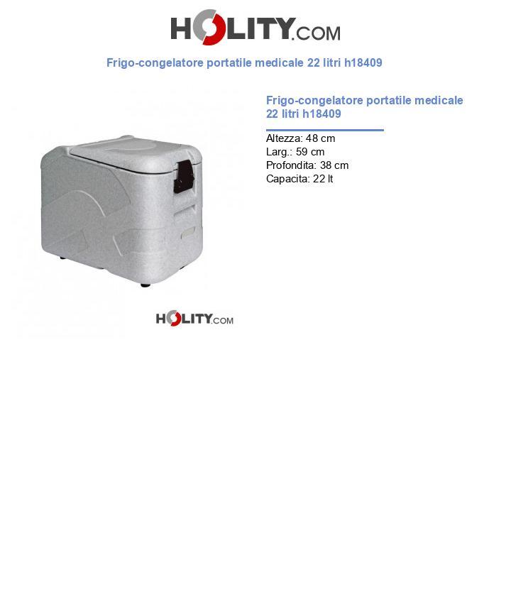 Frigo-congelatore portatile medicale 22 litri h18409