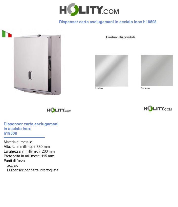 Dispenser carta asciugamani in acciaio inox h18508