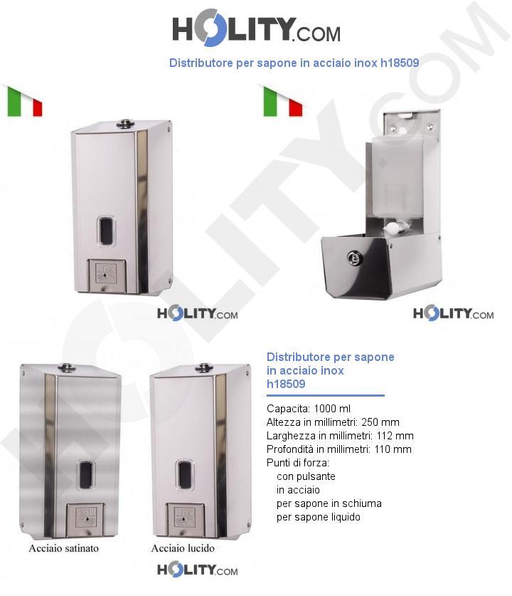 Distributore per sapone in acciaio inox h18509