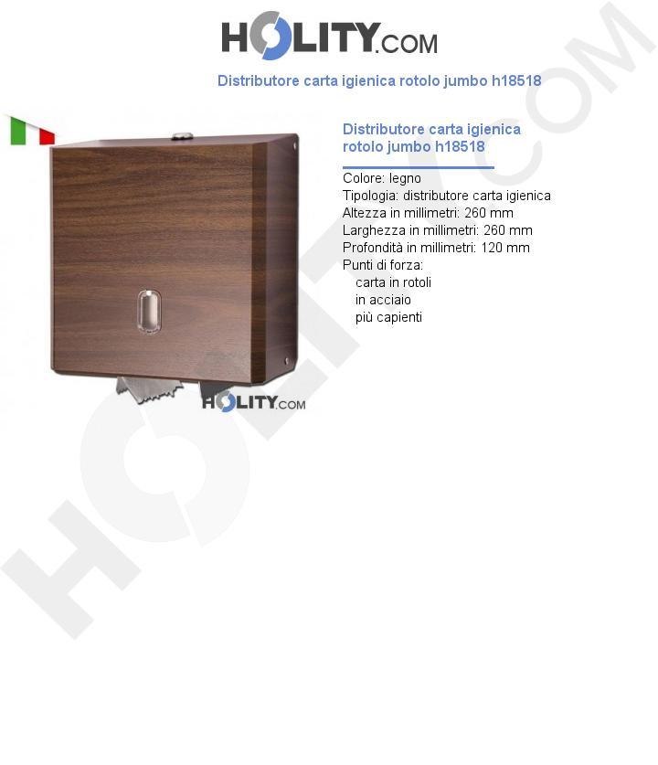 Distributore carta igienica rotolo jumbo h18518