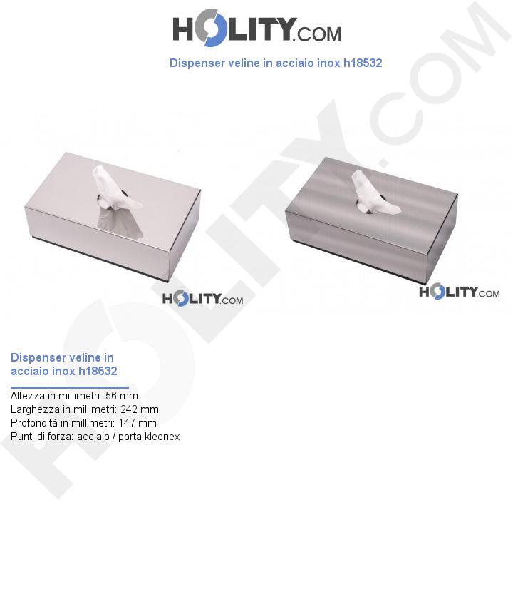 Dispenser veline in acciaio inox h18532