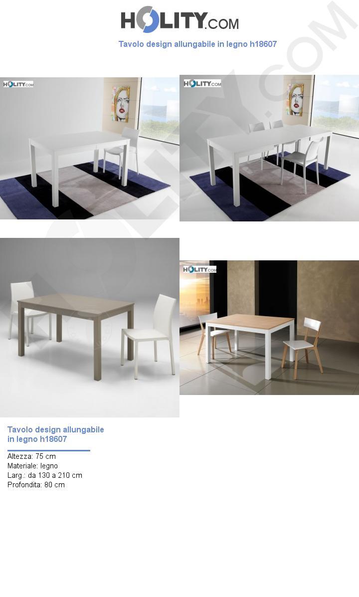 Tavolo design allungabile in legno h18607