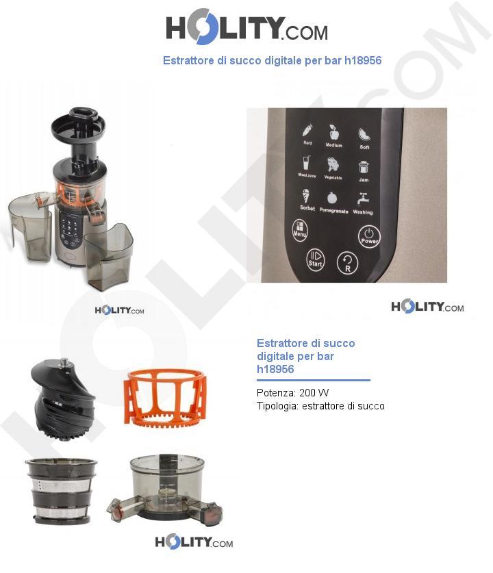 Estrattore di succo digitale per bar h18956