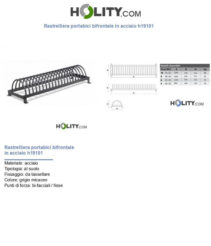 Rastrelliera portabici bifrontale in acciaio h19101