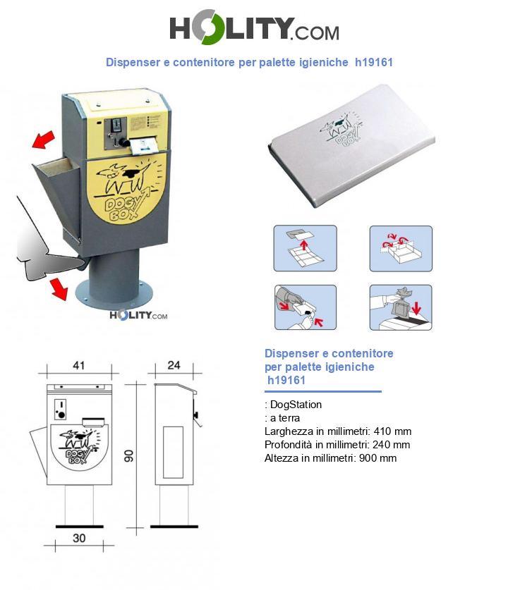 Dispenser e contenitore per palette igieniche  h19161