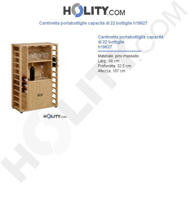 Cantinetta portabottiglie capacità di 22 bottiglie h19627