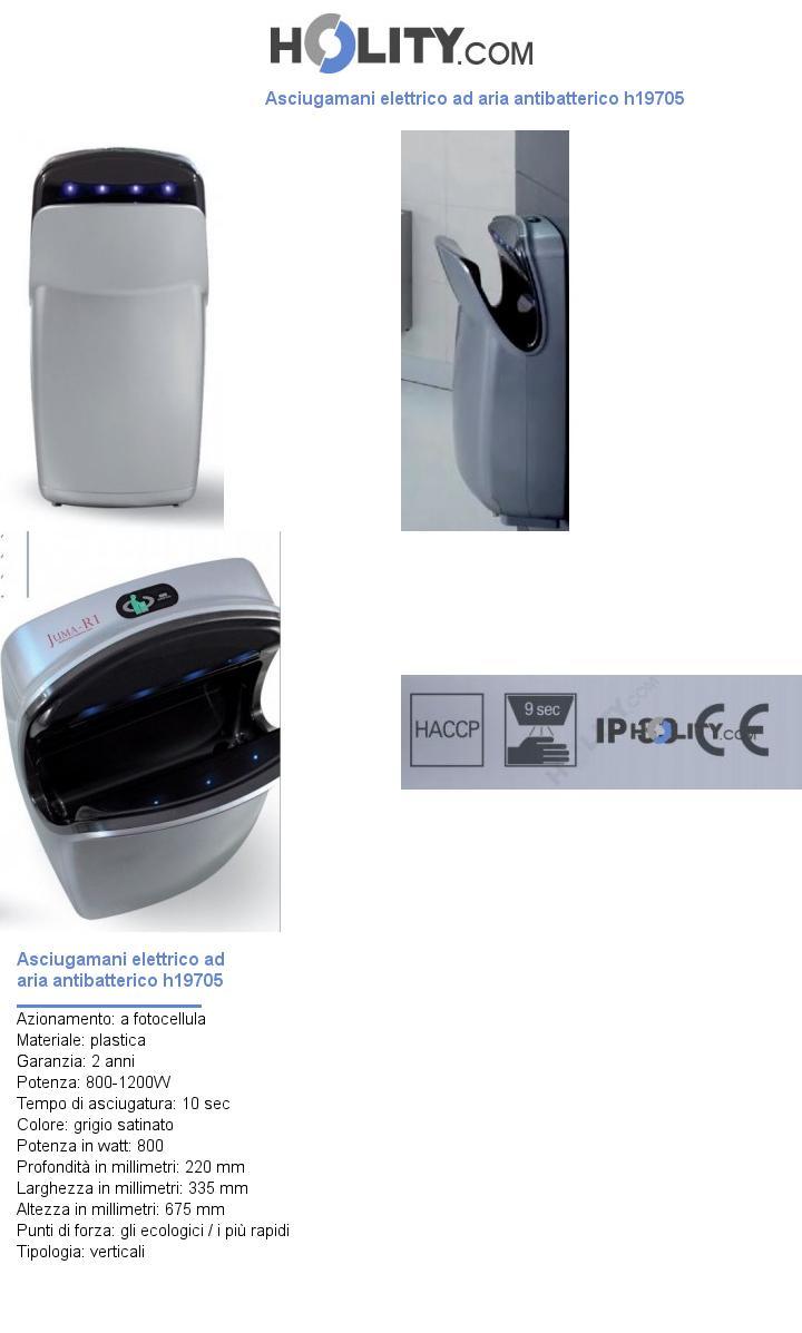 Asciugamani elettrico ad aria antibatterico h19705