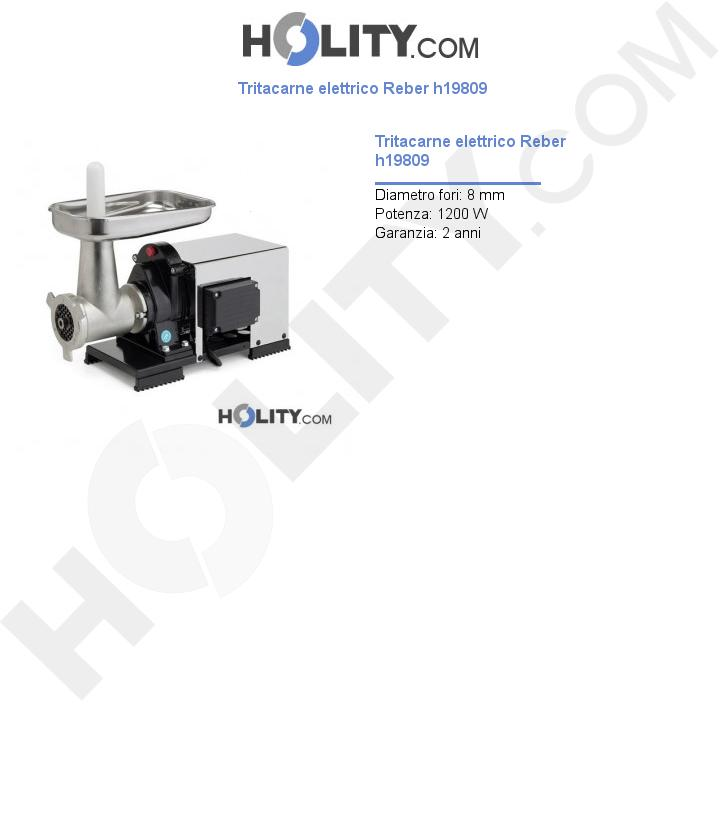 Tritacarne elettrico Reber h19809
