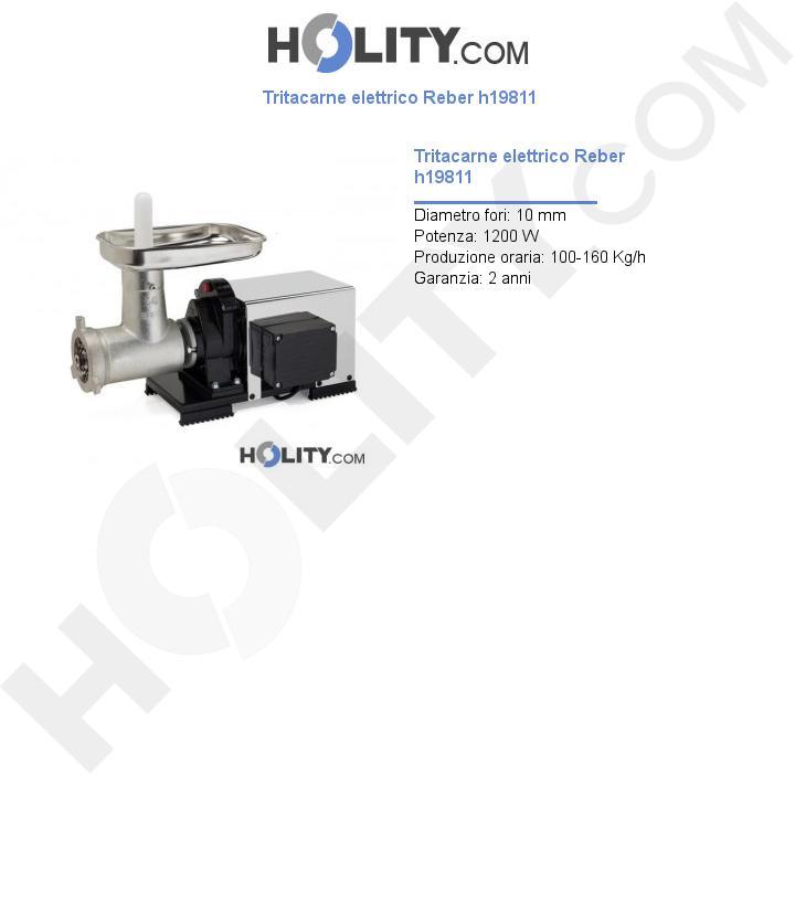 Tritacarne elettrico Reber h19811