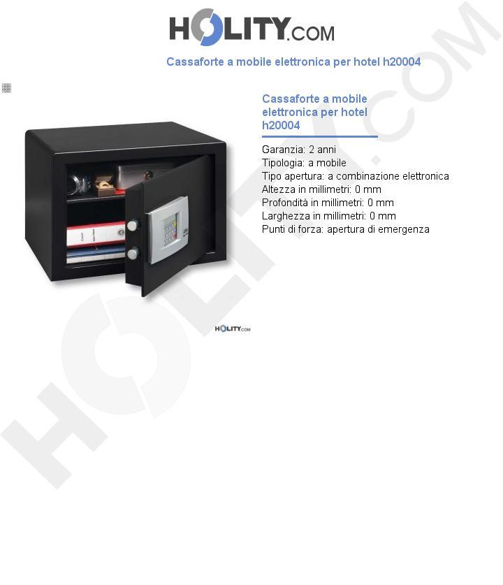 Cassaforte a mobile elettronica per hotel h20004