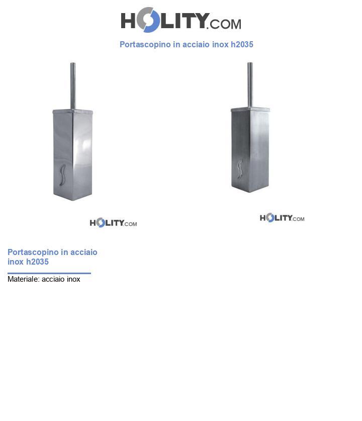 Portascopino in acciaio inox h2035