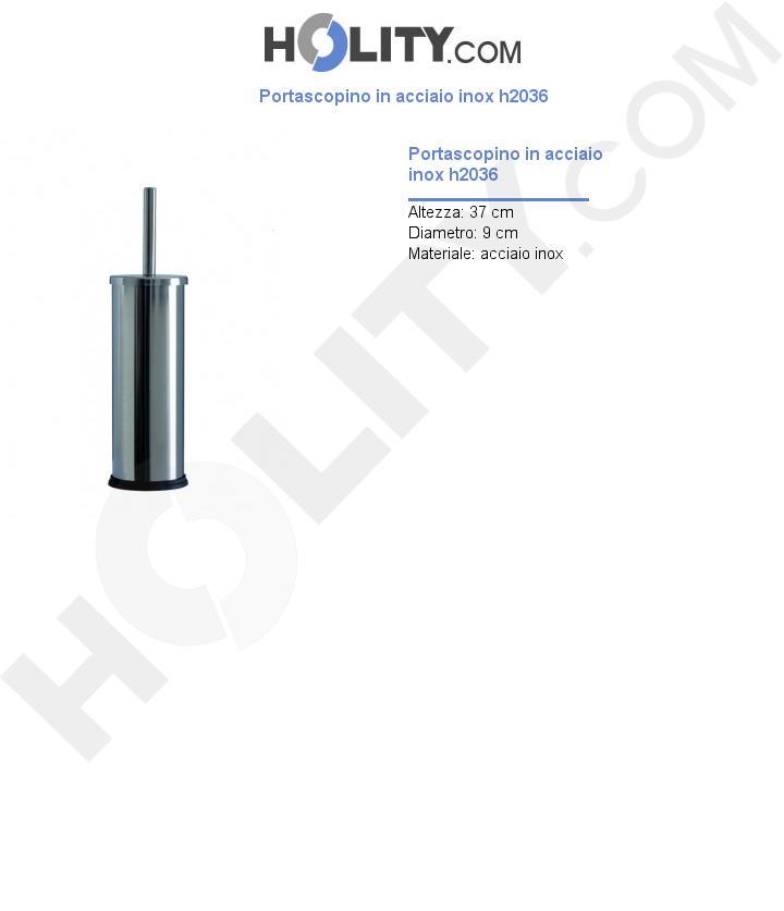 Portascopino in acciaio inox h2036
